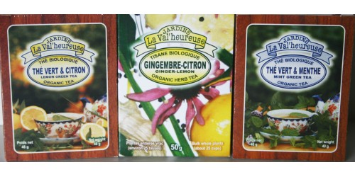 TRIO 2 GREEN TEAS  AND GINGER-LEMON HERB TEA