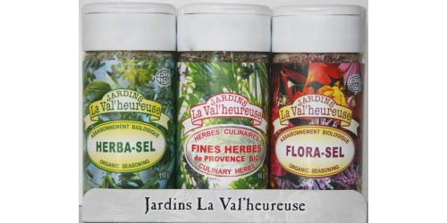 TRIO HERBA-SEL  + FLORA-SEL + FINES-HERBES PROVENCE